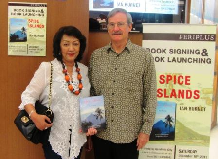 The book launch at the Periplus Bookshop in Jakarta
